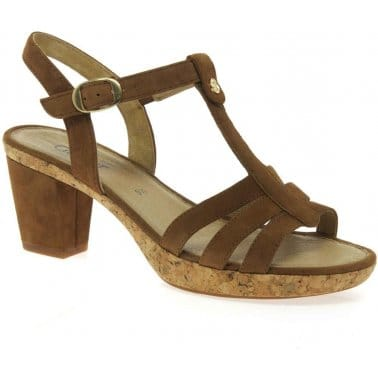 Gabor Easton Strappy T-Bar Ladies Sandals