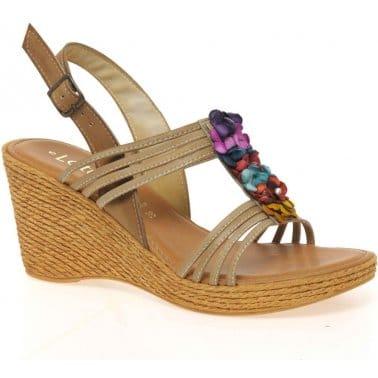 Lotus Sardinia Womens Wedge Heel Leather Sandals