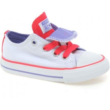 Oxford Double Tongue Toddler Girls Canvas Shoes
