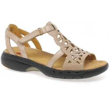 Un Sugar Tan Leather Ladies Sandals