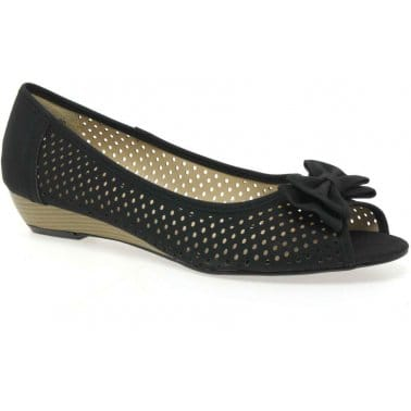 Clancy Faux Suede Perforated Pumps