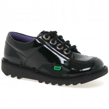 Lo Rainbow Eyelet Youth Girls School Shoes