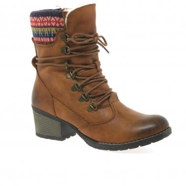 Eagle Womens Rib-Knit Cuff Boots