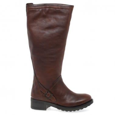 Barbour Cragg Womens Leather Long Boots