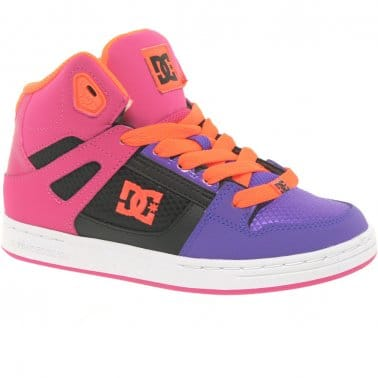 DC Shoes Rebound Hi Youth Lace Up Trainers