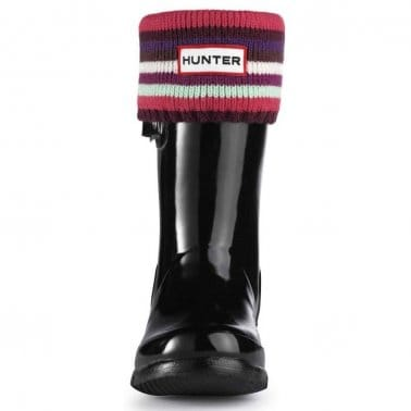 Striped Hunter Childrens Wellington Boot Socks