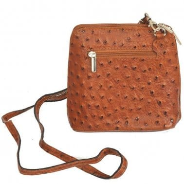 Kelly Small Ostrich Leather Messenger Bag