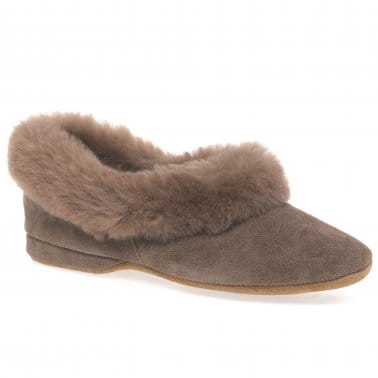 Jane Women's Sheepskin Collar Slippers