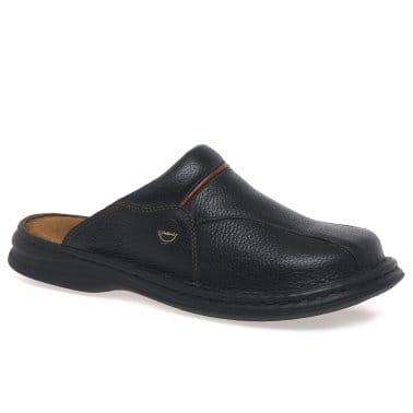 Klaus Classic Leather Mens Mules