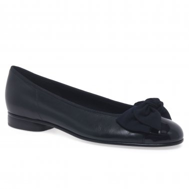 Amy Bow Trim Womens Ballerina Pumps