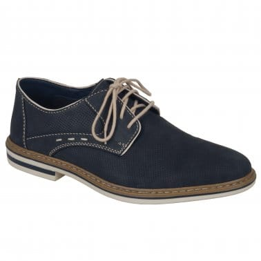 Hamble Mens Blue Leather Casual Shoes