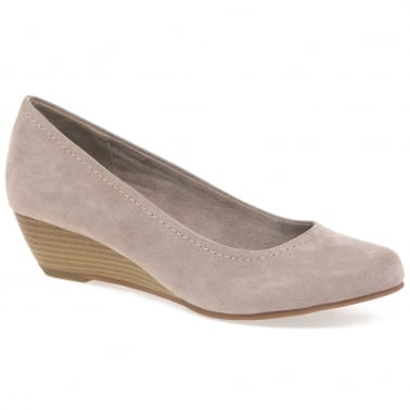 Quibble II Womens Wedge Heel Court Shoes