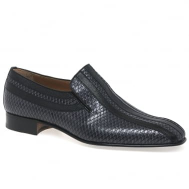 Almansa Croc Leather Slip on Mens Loafers