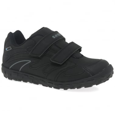 Meridian Boys Black Waterproof Trainers