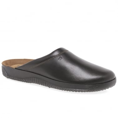 Range Leather Mule Style Mens Slippers