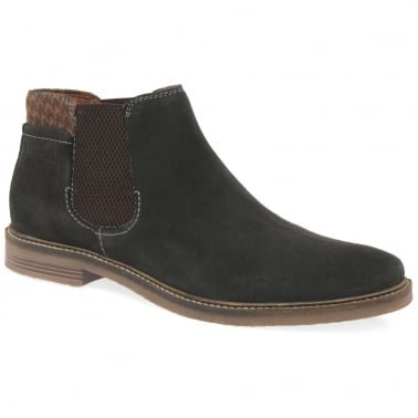 Chequer Mens Chelsea Boots