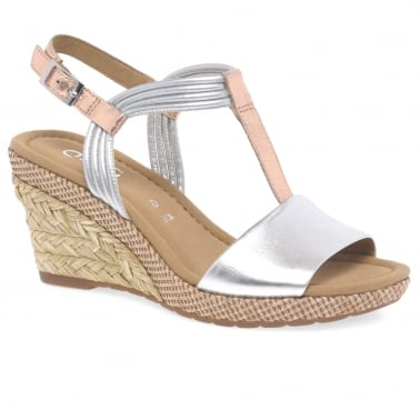Jess Womens Casual Wedge Heel Sandals