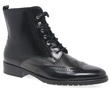 Connected Womens Brogue Ankle Boots