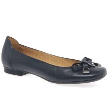 Natalia Womens Leather Ballet Pumps