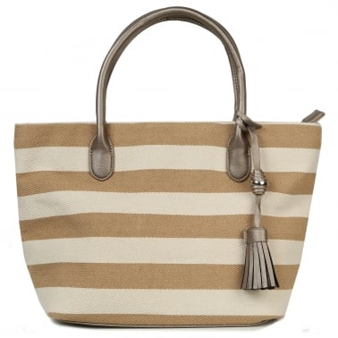 Lily Womens Striped Shoulder Bag