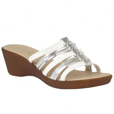 Elletra Womens Wedge Heel Sandals