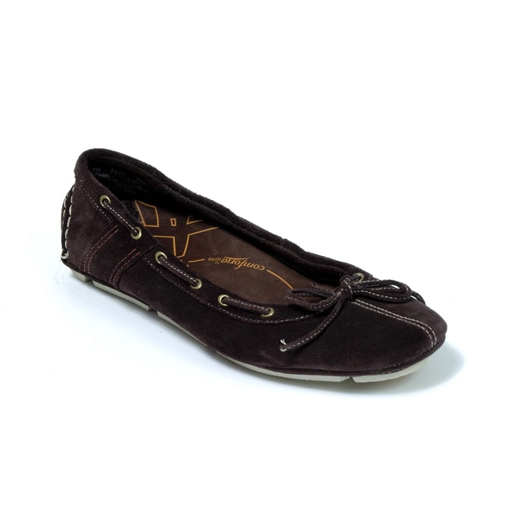 timberland ballerina brown suede slip on shoe