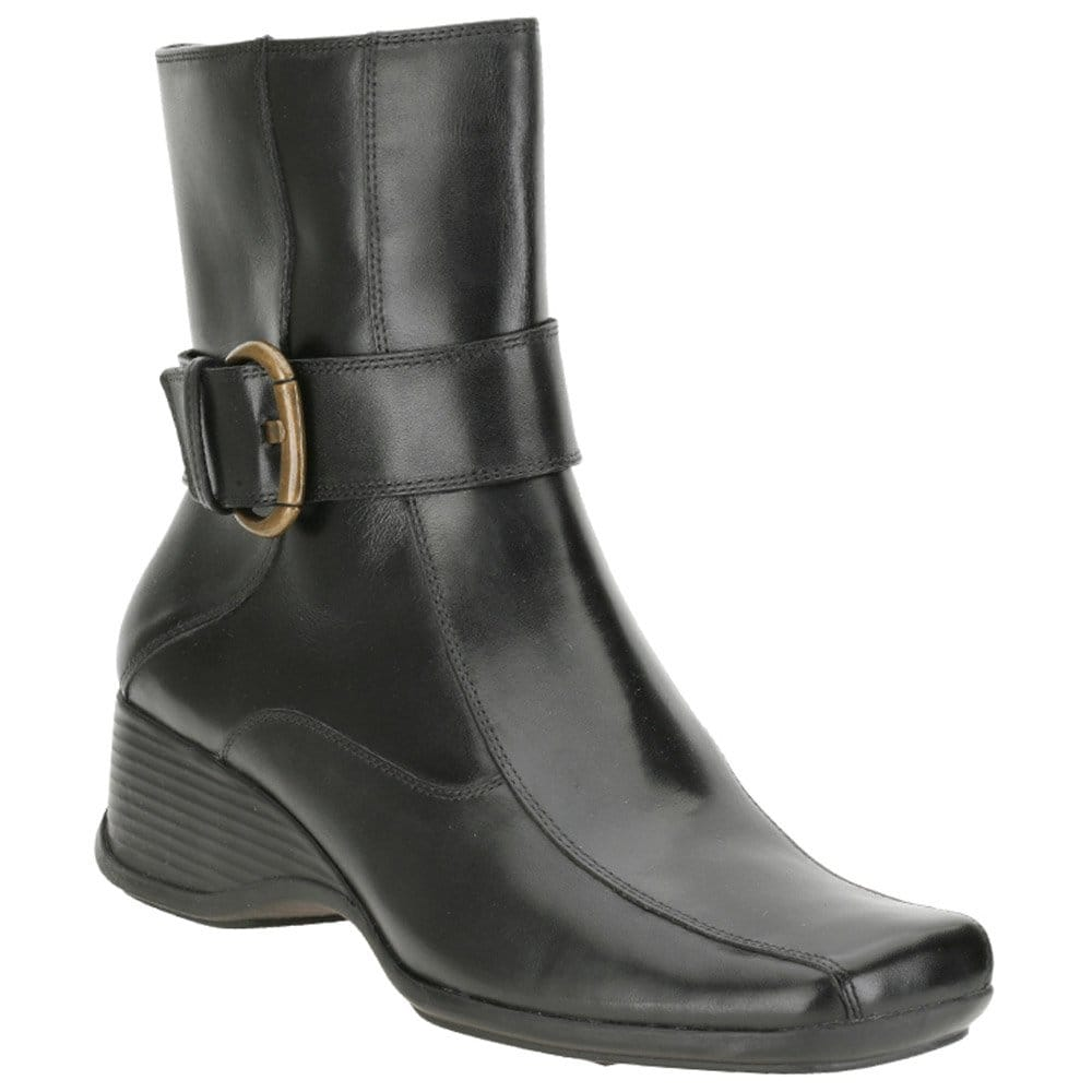 clarks black leather ankle boot clarks from