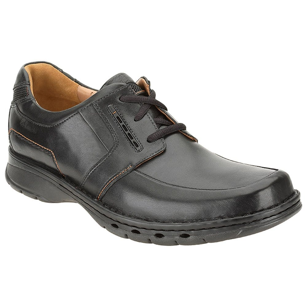 clarks un told black leather casual shoe clarks from