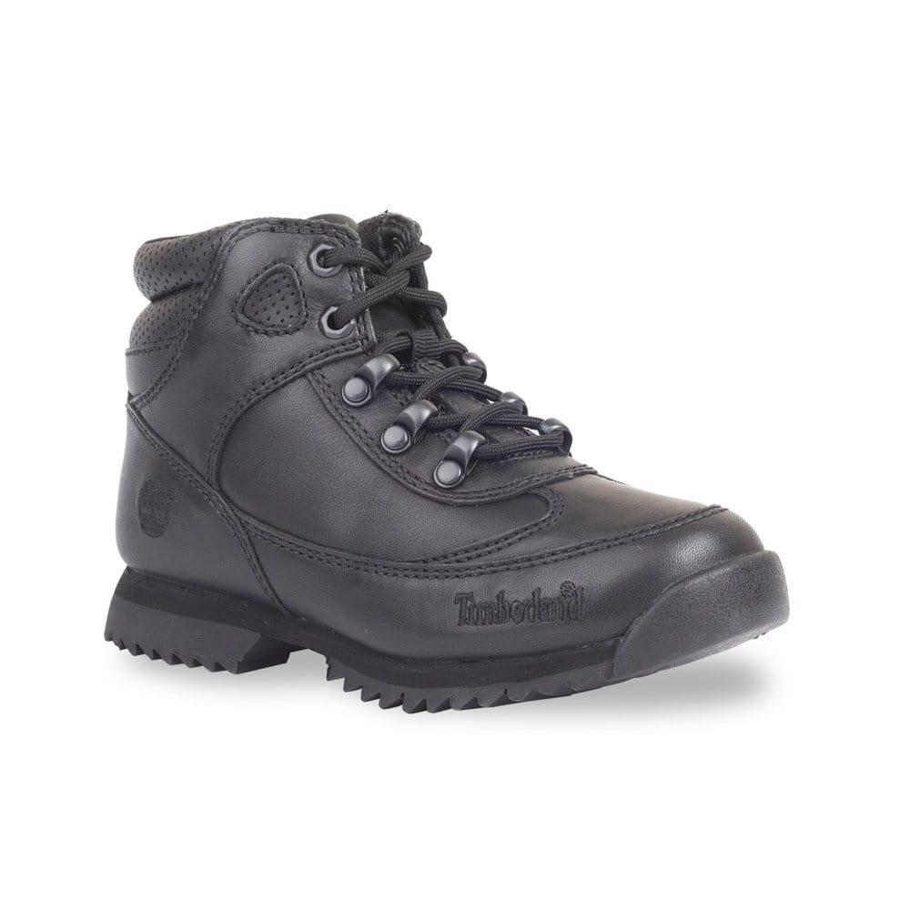 timberland sprint junior black leather boot 92985