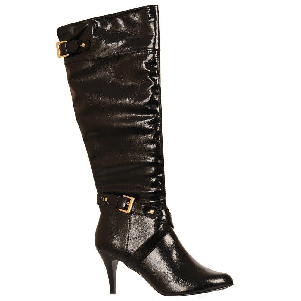 lotus black shiny boot 4765 lotus from
