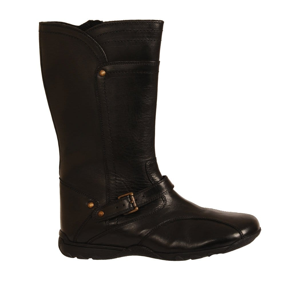Lastest  Hush Puppies Tan Leather Women Boots Rustique _14Bt By  High Boots
