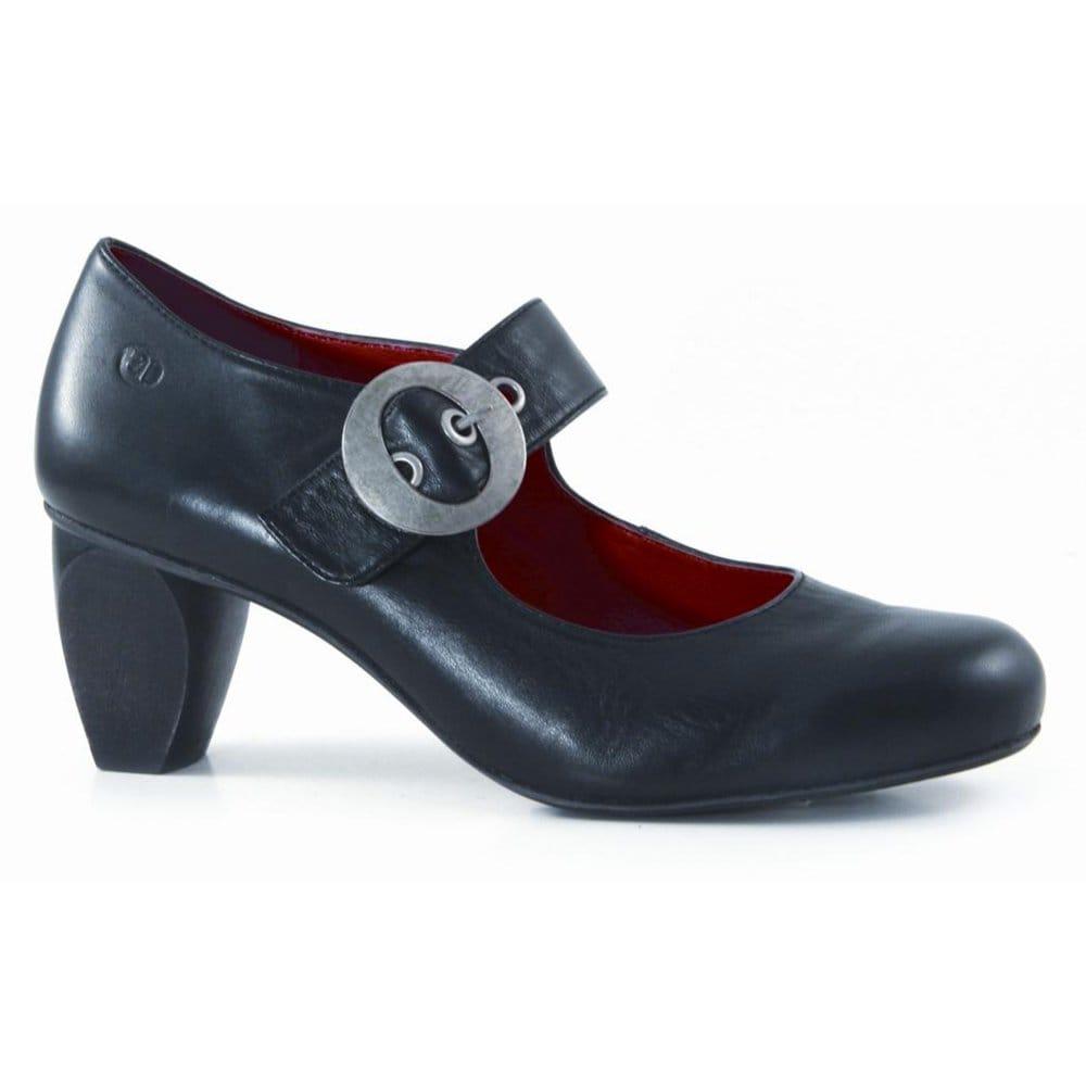 Seibel : Josef Seibel Rianna Black Mid Heel Mary Jane Shoes 95127