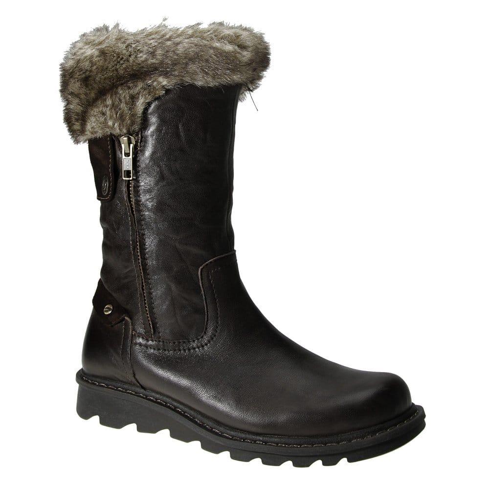 camel active cairo fur top leather calf boots. Black Bedroom Furniture Sets. Home Design Ideas
