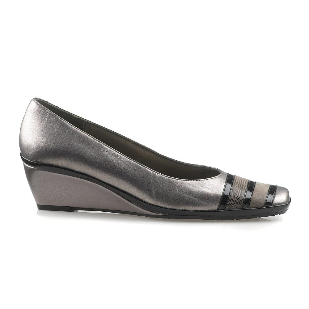 dal alava wide fit court shoe wedge heel charles