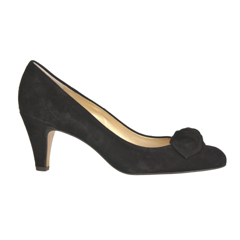 kaiser patsy black suede court shoes kaiser