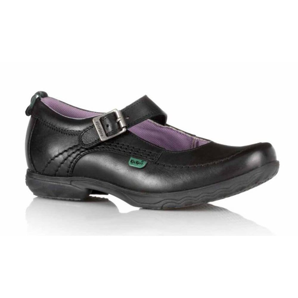 kickers keavy bar girls black school shoes kickers from