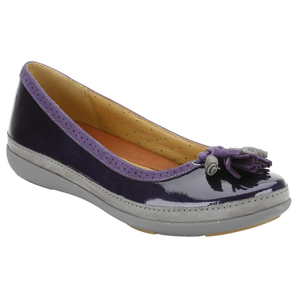 Clarks Clarks Un Bella Flat Purple Patent Pumps - Shoes from Charles ...