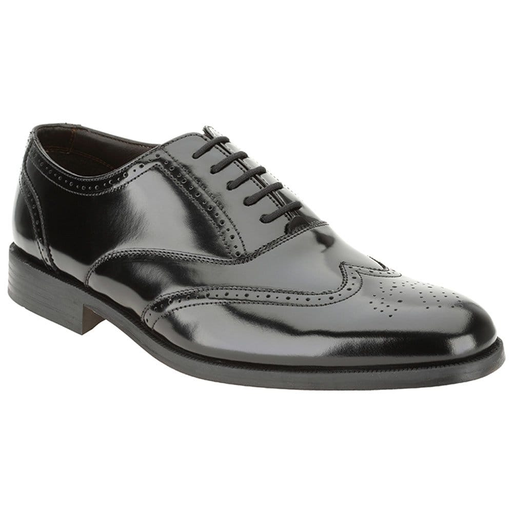clarks hitch mens formal black lace up shoes