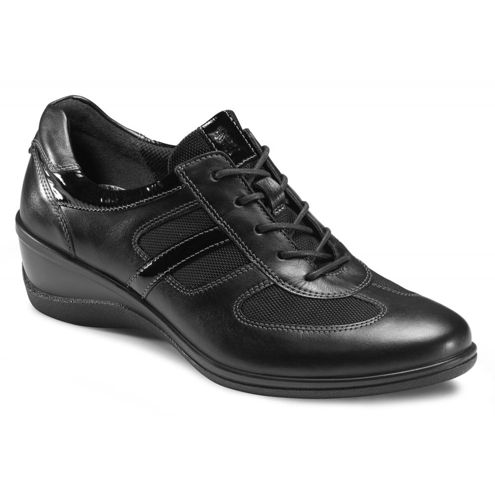 Charles Clinkard | Ecco Wise Black Leather Women's Shoes