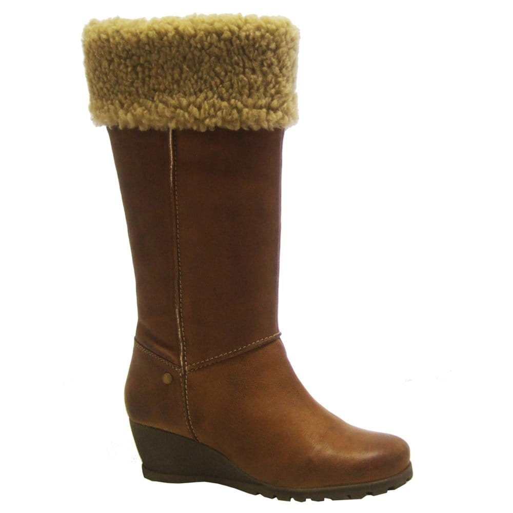 lotus amberton wide calf leather boots lotus from