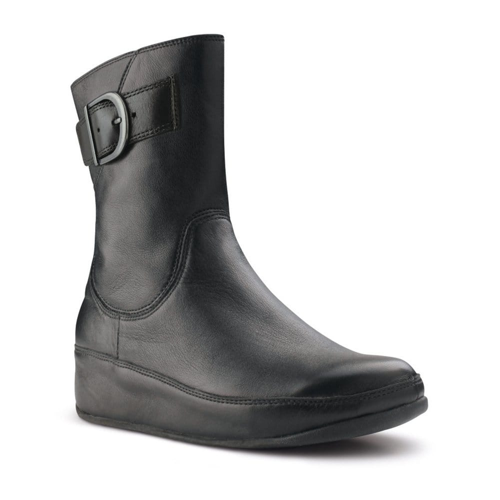 fitflop hooper black leather ankle boots fitflop from