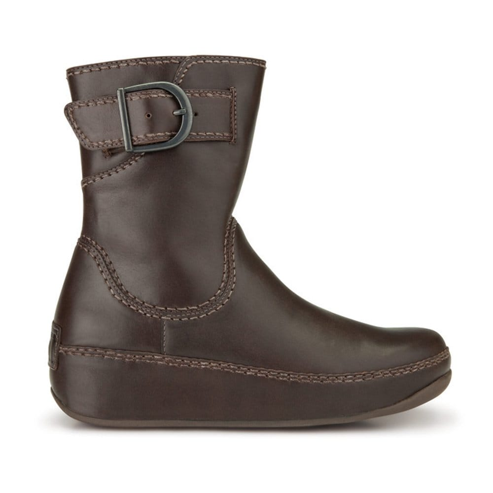 fitflop hooper brown leather ankle boots fitflop from charles clinkard uk. Black Bedroom Furniture Sets. Home Design Ideas
