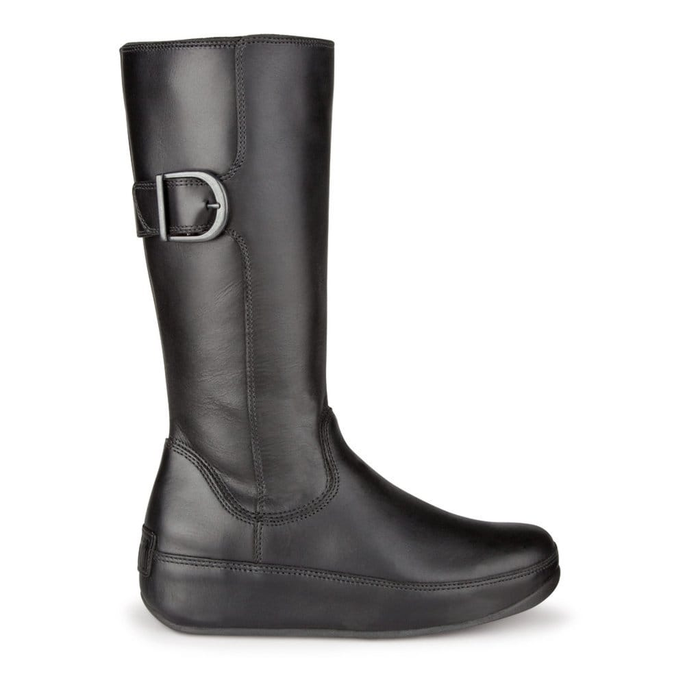 fitflop hooper black leather boot fitflop