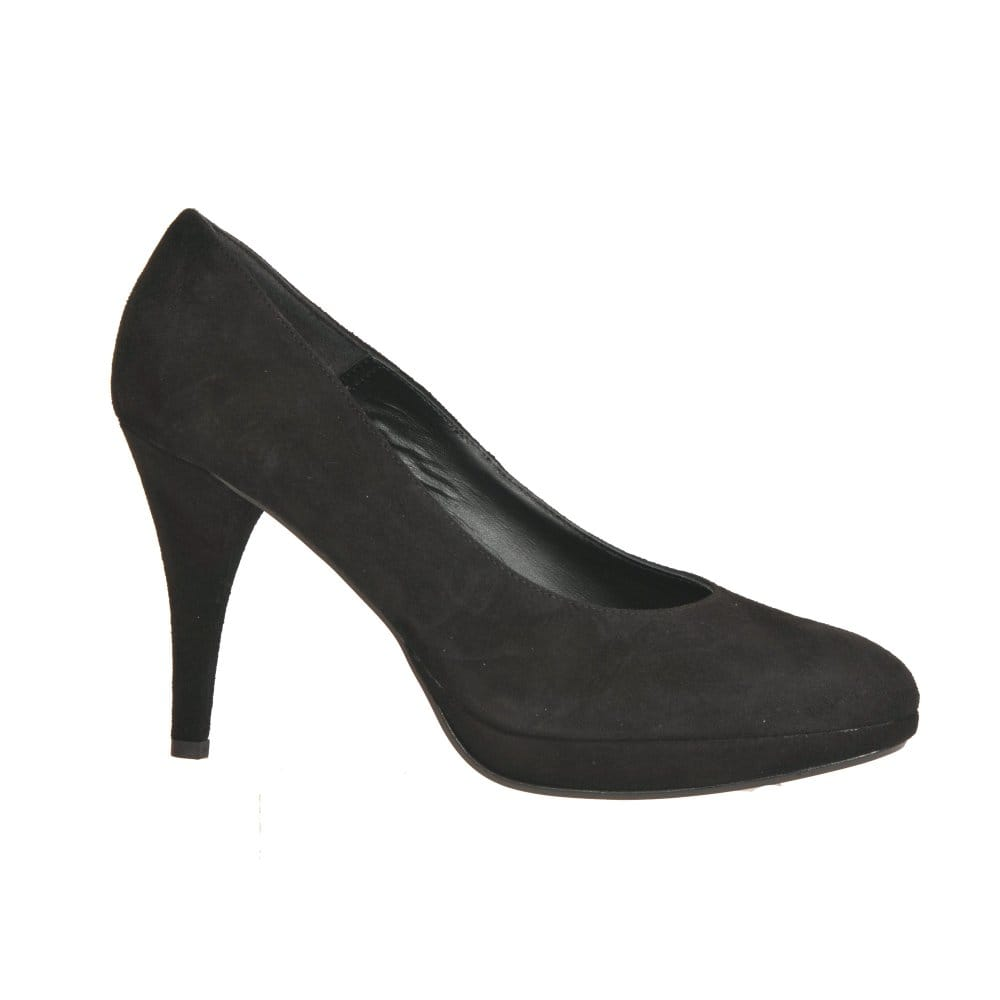 zodiaco fluff black suede court shoe zodiaco from