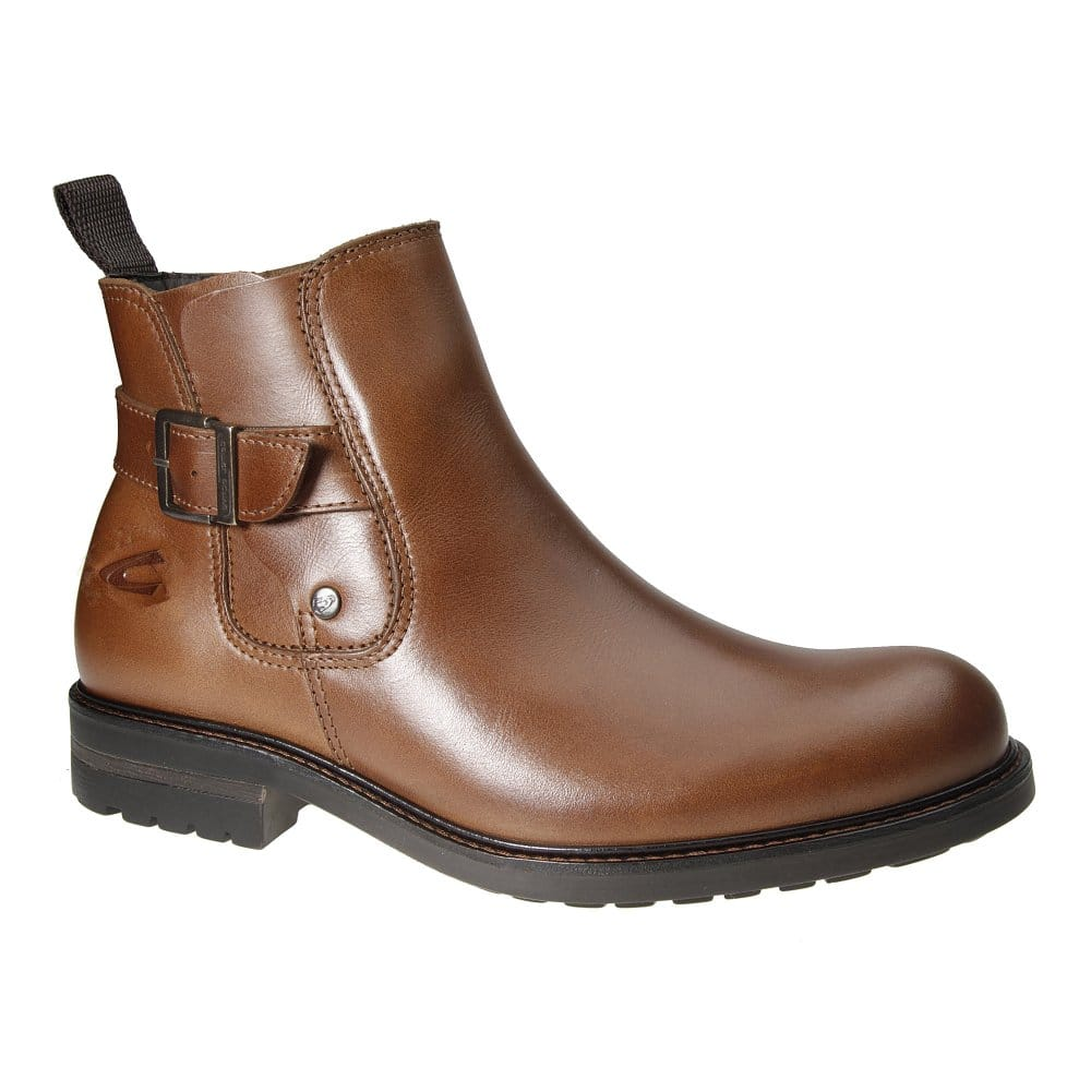 camel active brown leather mens chelsea boots
