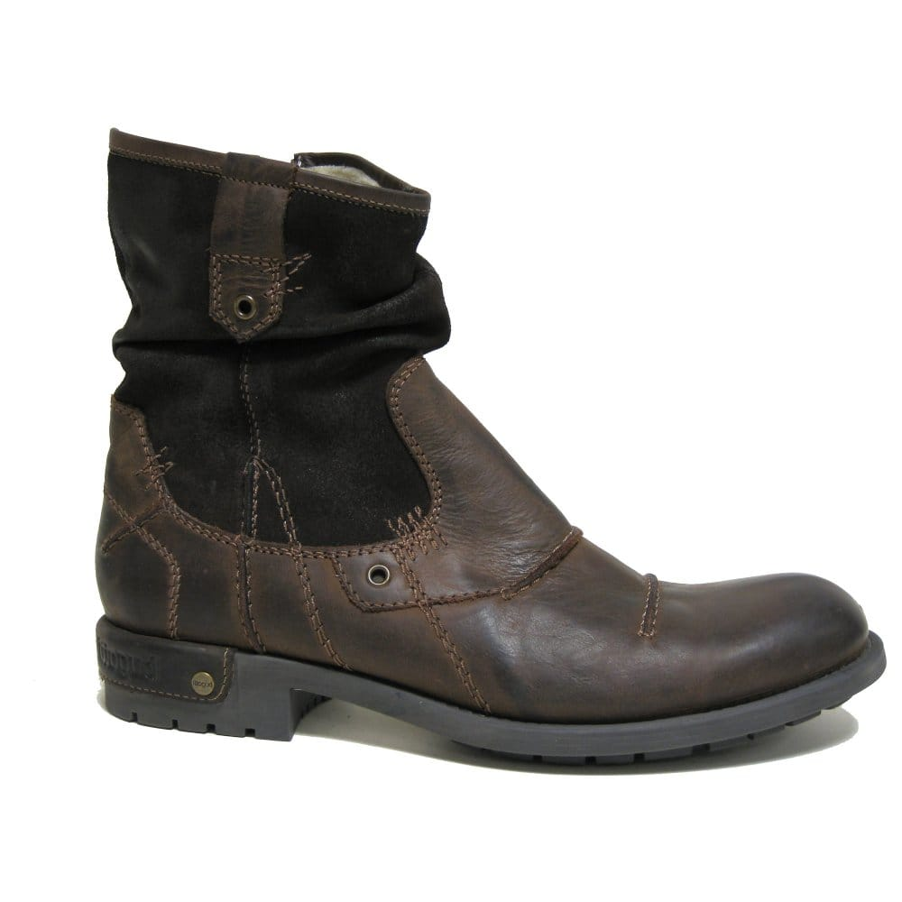 bugatti gloucester mens brown leather chelsea boot