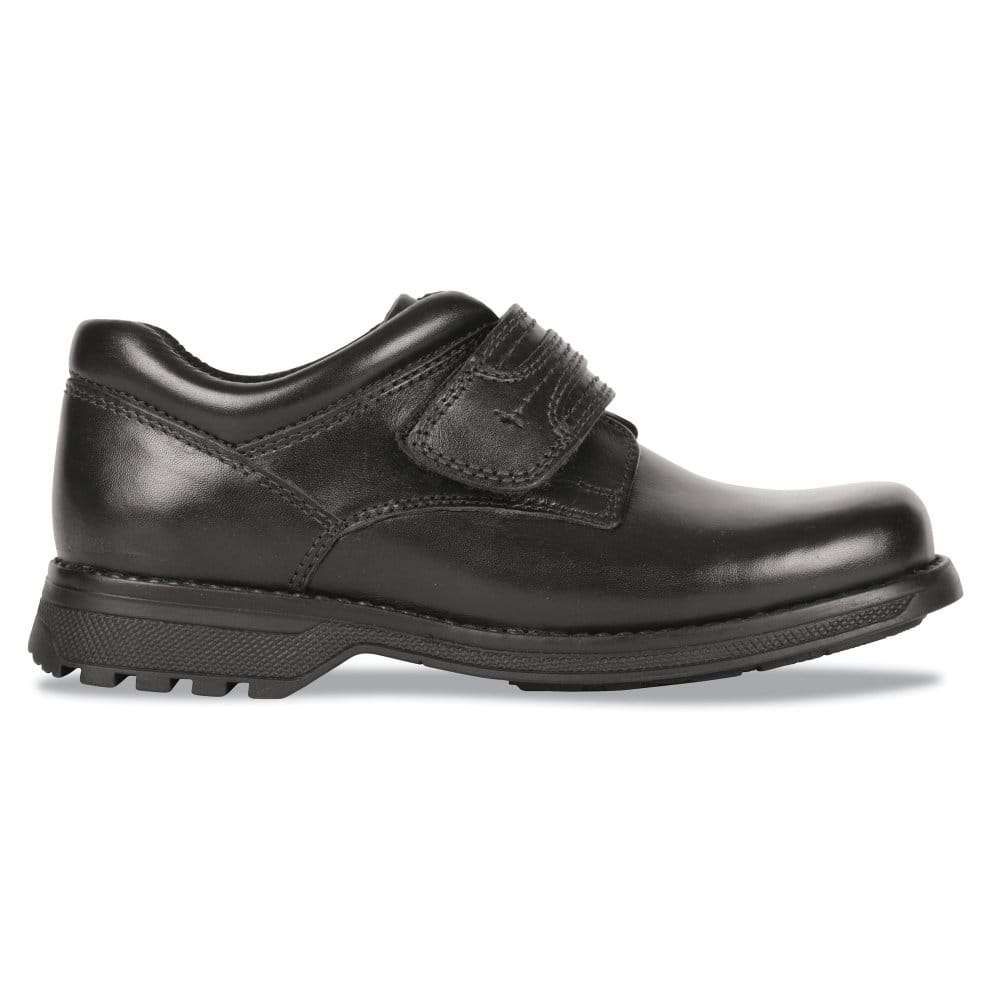 hush puppies attack senior boys black school shoes 33658