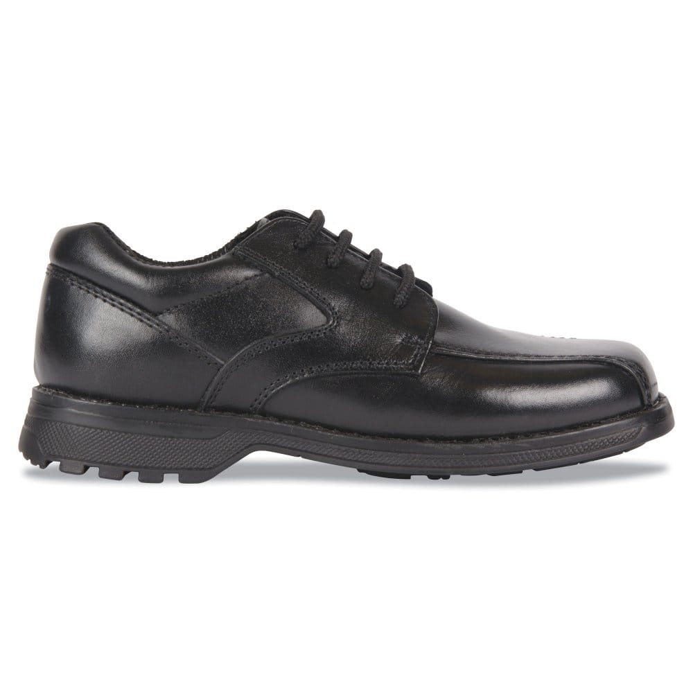 hush puppies joust boys black lace up school shoes hush