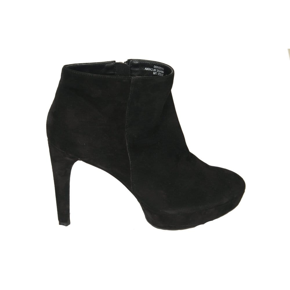 rockport janae black suede high heel ankle boot