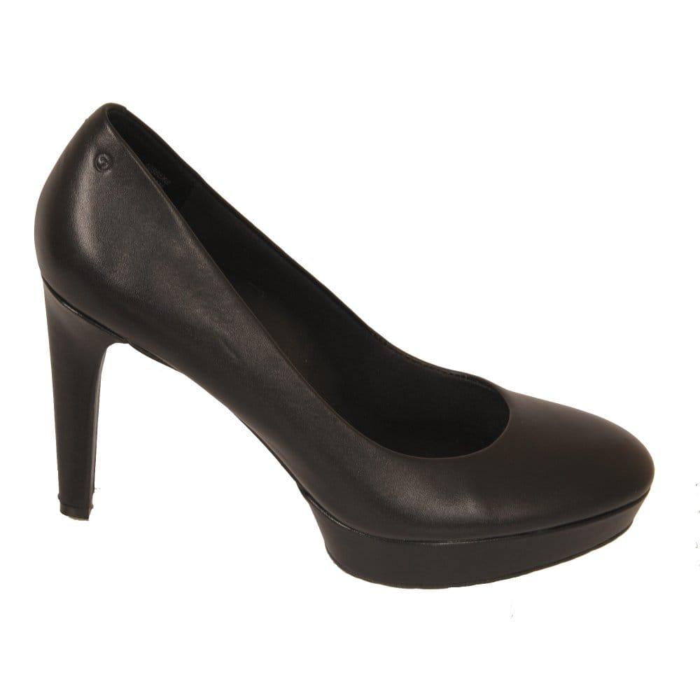 Womens Black Suede Stiletto Court Shoes